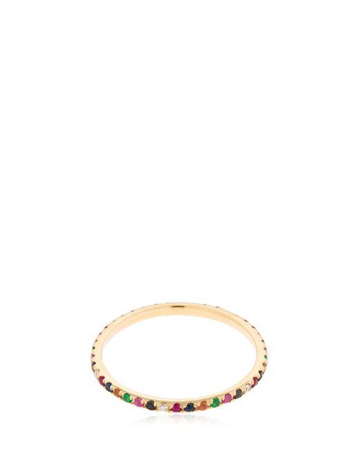 EF Collection - Metallic Rainbow Diamond 14kt Gold Eternity Band - Lyst