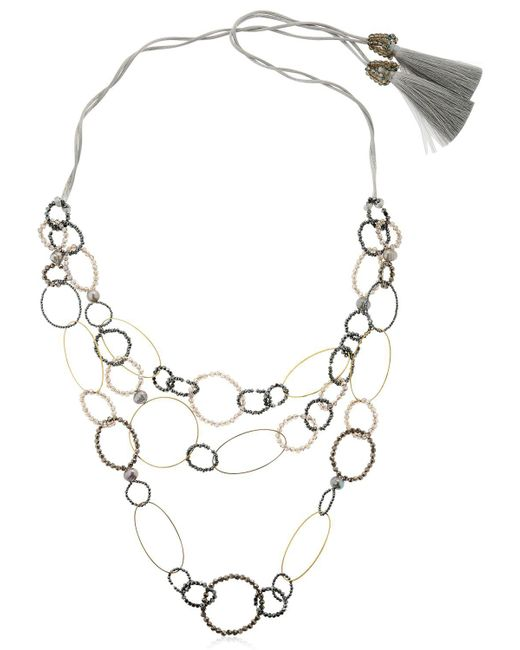 Night Market - Metallic Long Circle Necklace - Lyst
