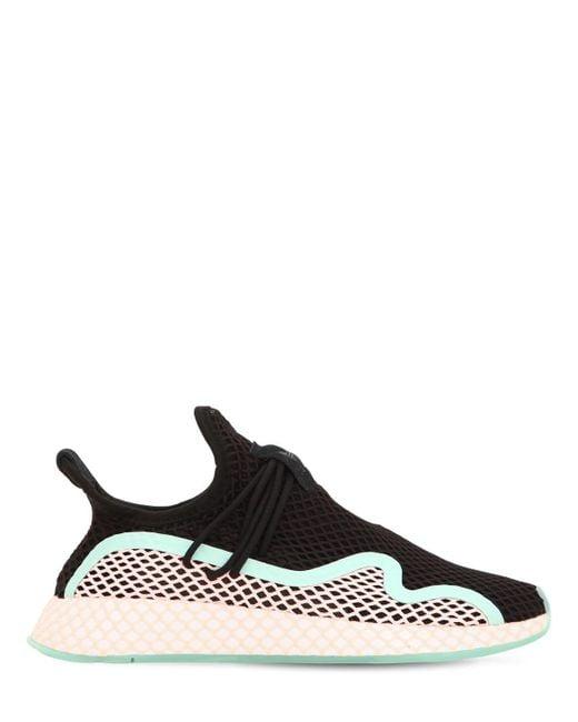 a23d11523565 Adidas Originals - Black Deerupt New Runner Sneakers for Men - Lyst ...