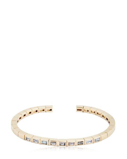 Luis Morais - Metallic Diamond Baguette Cuff Bracelet for Men - Lyst