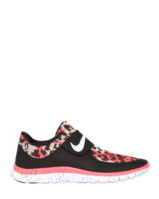 Nike | Red Free Sock Fly Techno Jacquard Sneakers for Men | Lyst