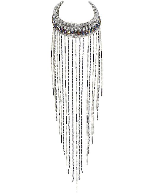 Only Child - Metallic Silver Meteor Storm Necklace - Lyst