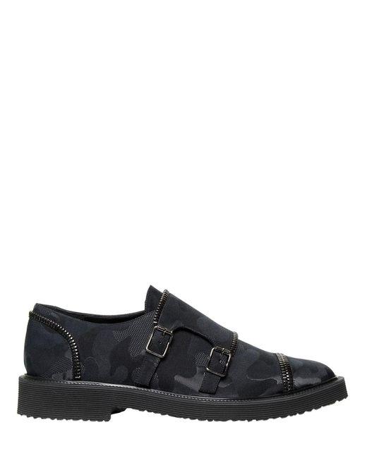 Giuseppe Zanotti - Multicolor Zapatos Monk Con Estampado Camuflaje for Men - Lyst