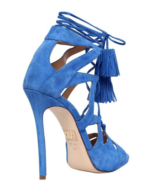 Dsquared2 120MM SUEDE LACE-UP SANDALS W/ TASSELS yyJxA0ag