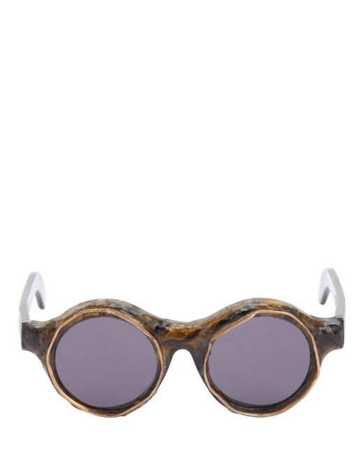 Kuboraum Berlin - Gray Gafas De Sol Redondas Con Montura De Acetato for Men - Lyst