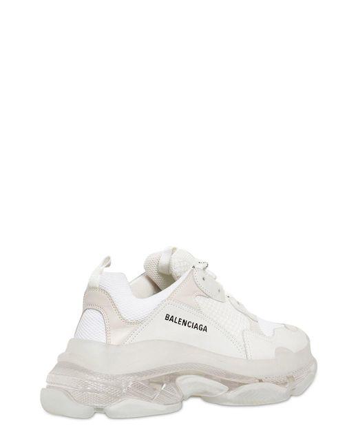 ddac91d951393 ... Balenciaga - White Triple S Bubble Sole Sneakers for Men - Lyst ...