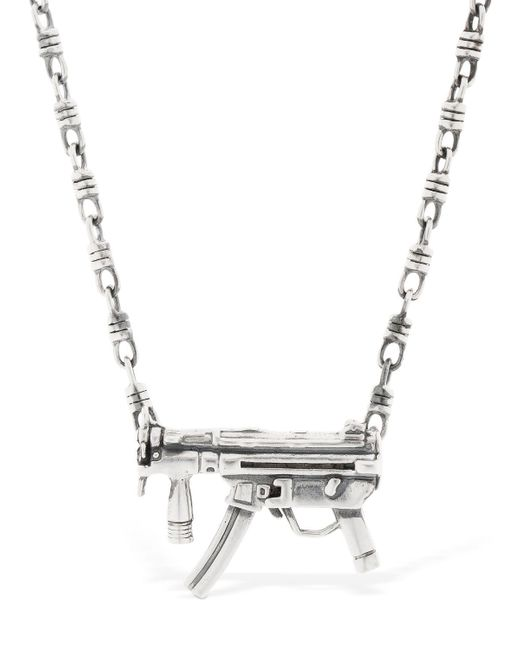 "Cantini Mc Firenze - Metallic Collar ""gun"" De Plata Esterlina for Men - Lyst"