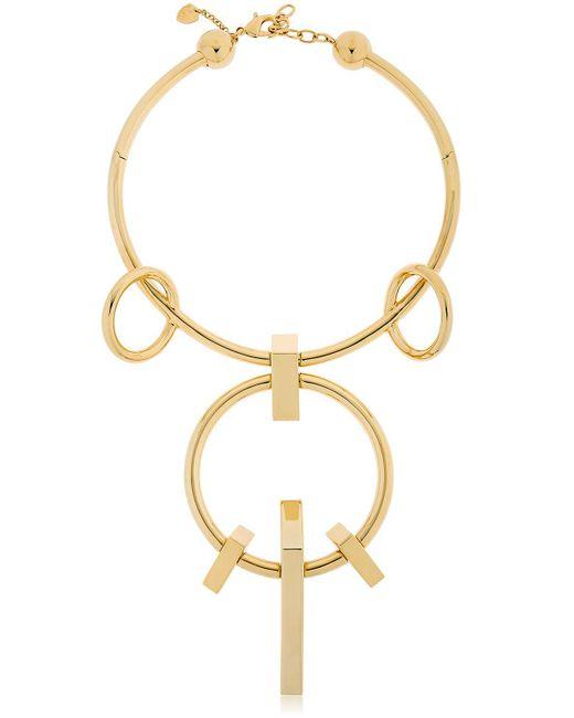 Schield - Metallic Geometrical Love Brass Necklace - Lyst