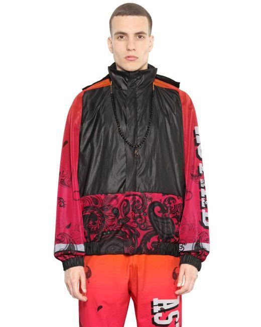 Astrid Andersen   Black Mesh & Nylon Windbreaker Jacket for Men   Lyst