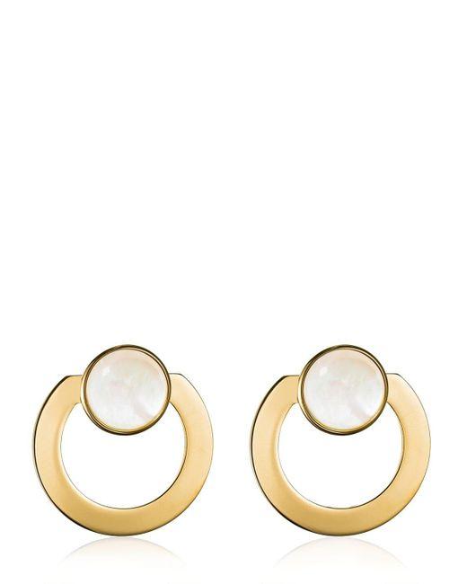 Vita Fede - Metallic Moneta Open Mother Of Pearl Earrings - Lyst