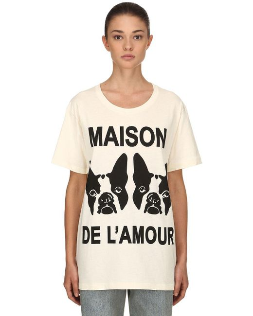 Gucci - White Maison De L'amour Cotton Jersey T-shirt - Lyst