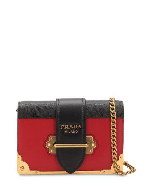 1a36b7f8db93 Prada - Multicolor Small Cahier Leather Shoulder Bag - Lyst ...