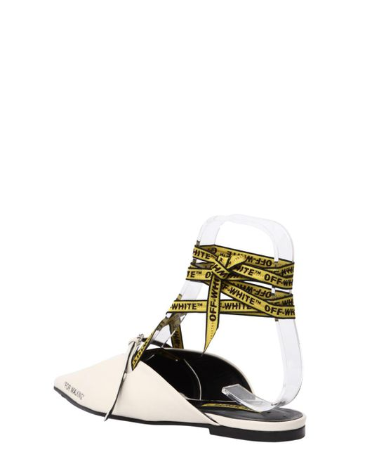 OFF-WHITE 10MM FOR WALKING LEATHER LACE-UP MULES 8Q8Lk