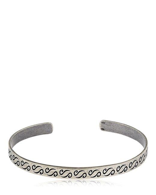 MARCO DAL MASO | Metallic Ara Engraved Silver Bracelet | Lyst