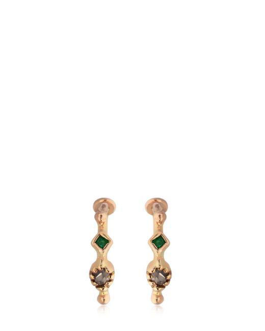 DORETTE - Metallic Simple Earrings, 18kt Gold - Lyst