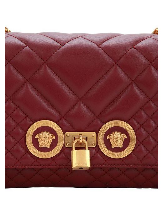 6e5b0f0725 ... Versace - Multicolor Icon Medium Quilted Leather Shoulder Bag - Lyst ...