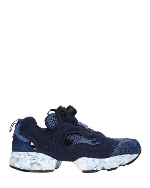 Reebok - Blue Instapump Fury Nylon Sneakers - Lyst ... 2e449972f