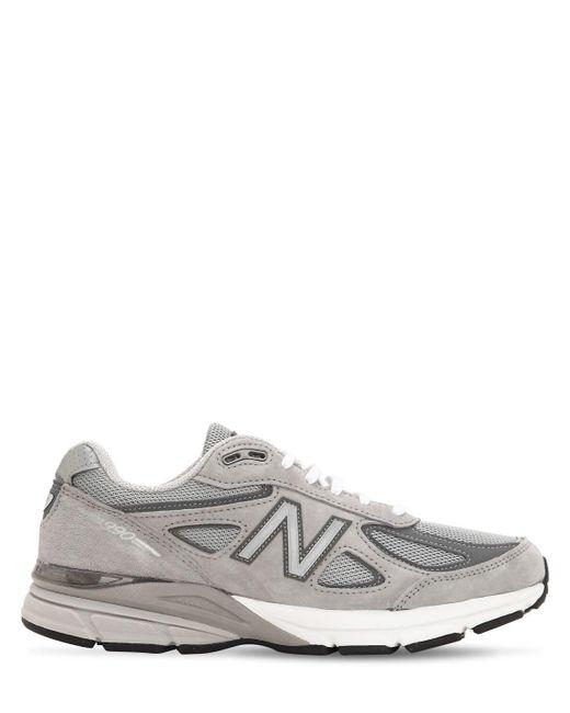 New Balance Gray 990 V4 Sneakers for men