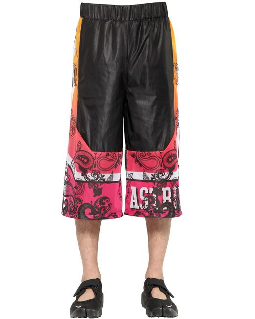 Astrid Andersen - Black Gradient Printed Nylon Shorts for Men - Lyst