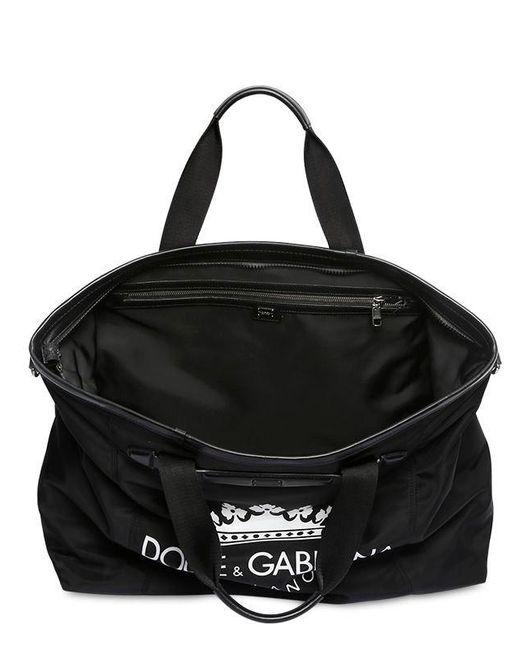 8bf78fed460b ... Lyst Dolce   Gabbana - Black Logo Printed Nylon Gym Back for Men ...