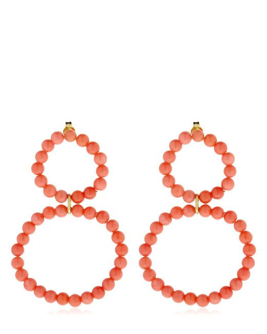 Saskia Diez - Multicolor Holiday Coral Earrings - Lyst