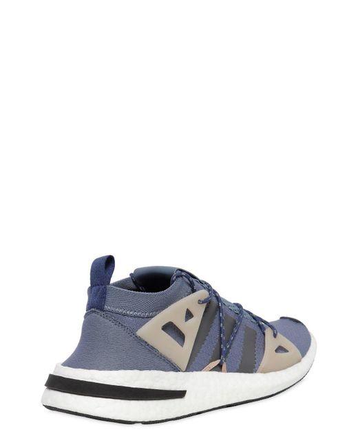 Arkyn Suede-trimmed Mesh Sneakers - Blue adidas Originals eUhSByW