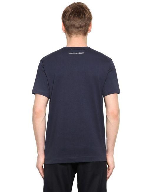 Comme des Garçons | Blue Essential Cotton Jersey T-shirt for Men | Lyst