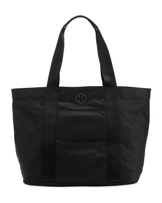 Tory Burch - Black Large Quinn Nylon Tote Bag - Lyst