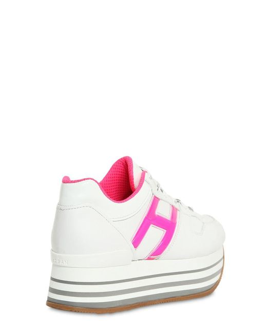 2hogan 70mm maxi 222 leather sneakers