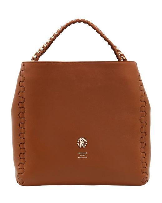 Roberto Cavalli   Brown Regina Leather Shoulder Bag   Lyst