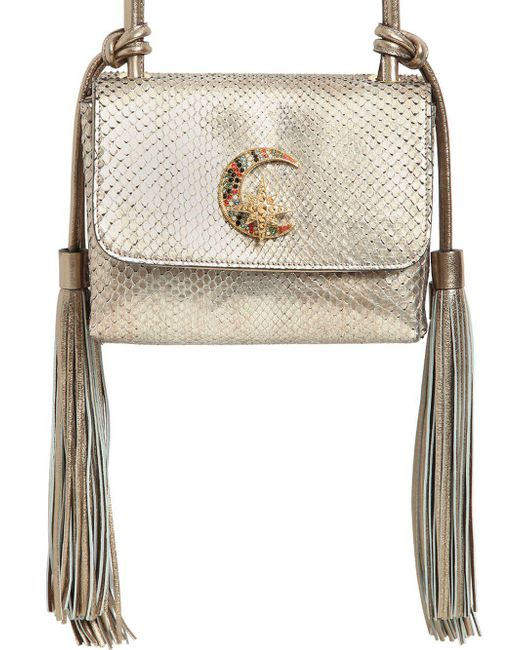 Roberto Cavalli | Metallic Small Swarovski Moon Python Shoulder Bag | Lyst