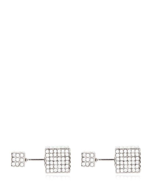Vita Fede - Metallic Double Cubo Crystal Earrings - Lyst