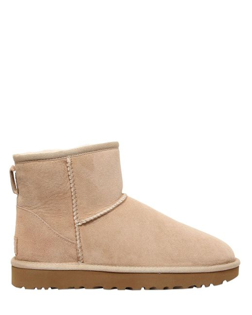 Ugg   Natural Classic Mini Ii Shearling Boots   Lyst