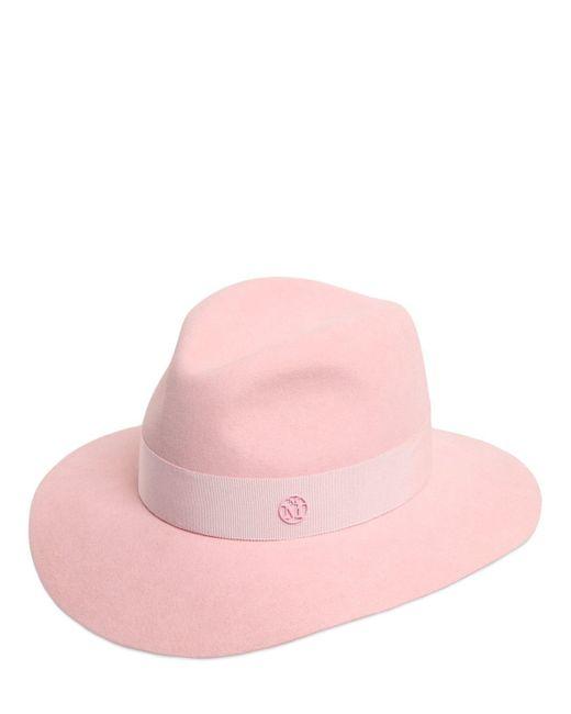 Maison Michel - Pink Henrietta Rabbit Fur Felt Hat - Lyst