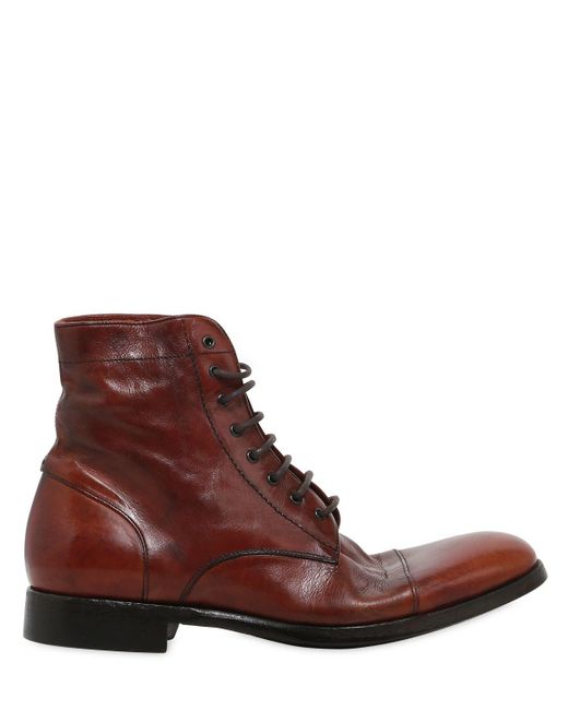 Rolando Sturlini - Brown Washed Leather Boots for Men - Lyst