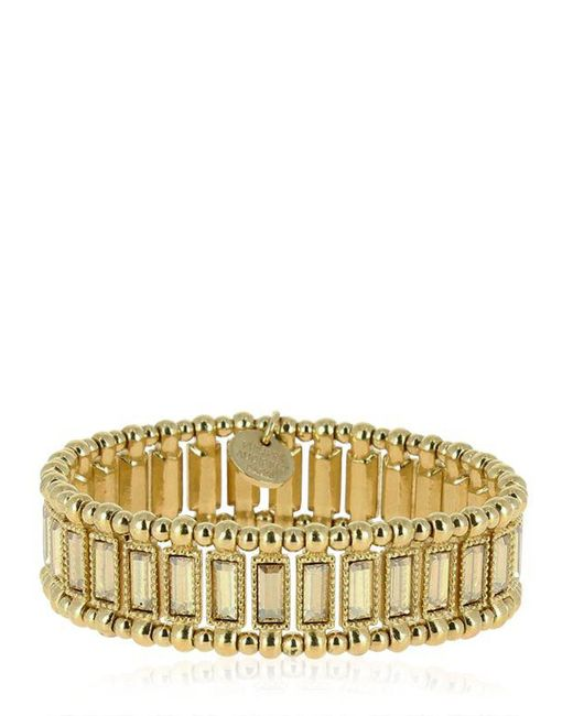 Philippe Audibert | Metallic Titia Light Gold Stretch Bracelet | Lyst