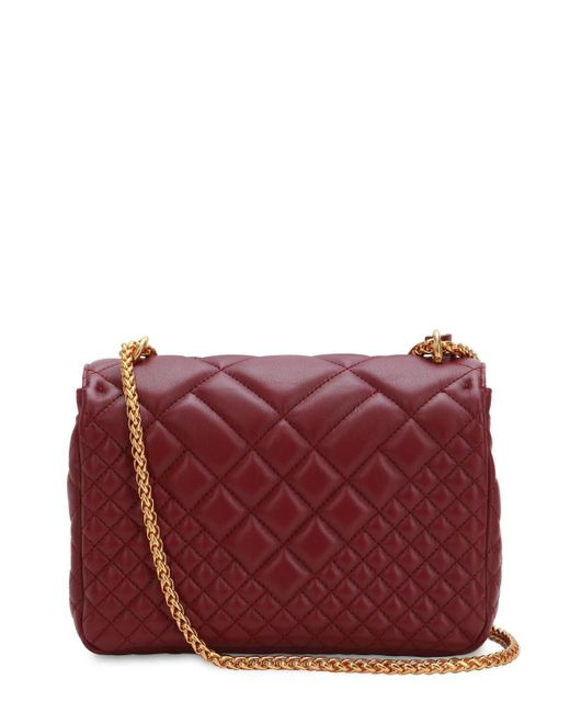 9047fc3ae030 ... Versace - Multicolor Icon Medium Quilted Leather Shoulder Bag - Lyst ...