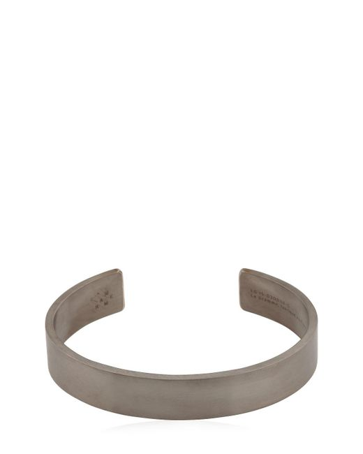 Le Gramme - Metallic Le 33 Black Brushed Silver Bracelet for Men - Lyst