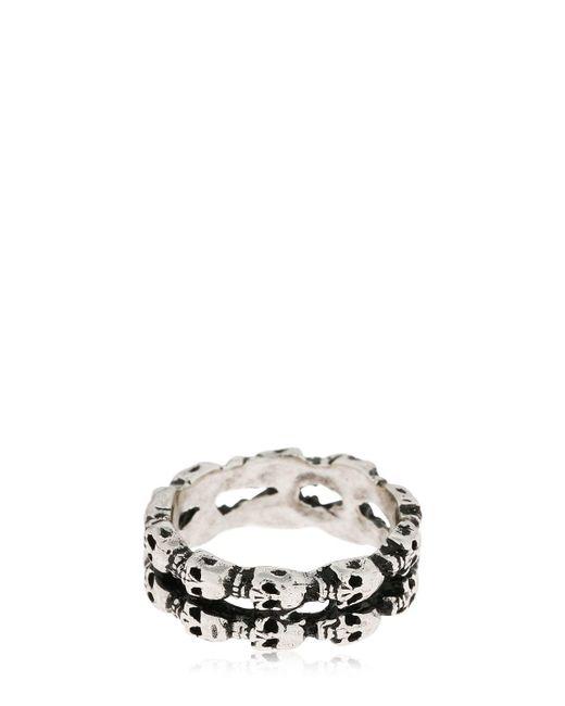 Alcozer & J - Metallic Skull Ring for Men - Lyst