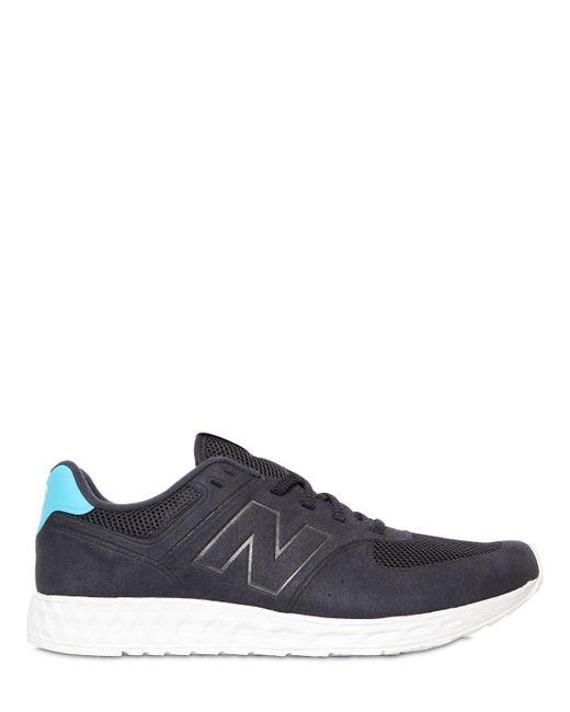 New Balance | Blue 574 Fresh Foam Faux Nubuck Sneakers for Men | Lyst