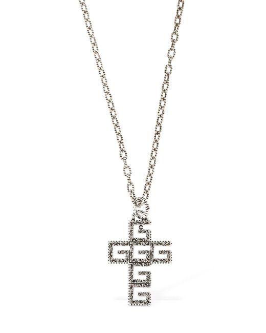 "Gucci - Metallic Collar ""crucifix Gg"" for Men - Lyst"
