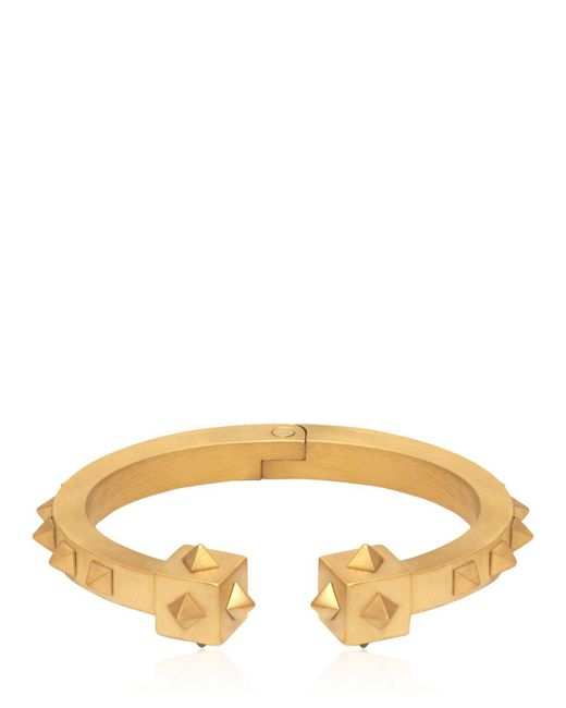 Northskull | Metallic Oloye Studded Gold Plated Cuff Bracelet | Lyst