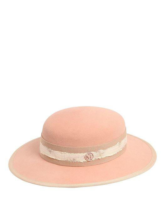 Maison Michel - Natural Rob Rabbit Fur Felt Hat - Lyst