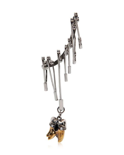 Alexander McQueen - Metallic Multi Safety Pin Mono Ear Cuff - Lyst