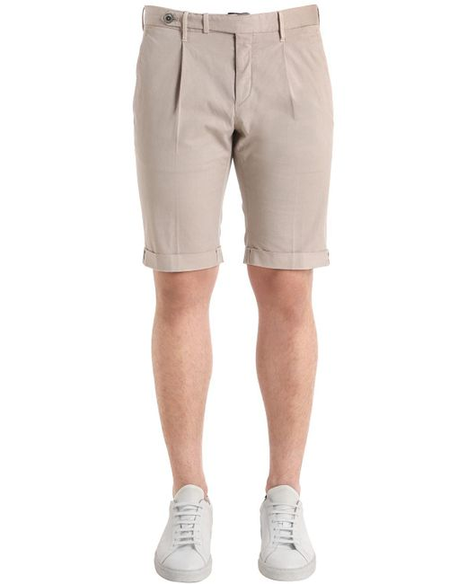 GTA - Natural Pantalones Cortos Slim De Gabardina Stretch for Men - Lyst