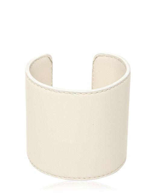 Ann Demeulemeester | White Leather Cuff Bracelet | Lyst