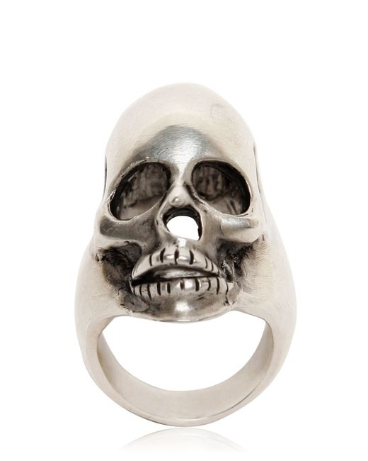 Saint Laurent | Metallic Skull Ring for Men | Lyst
