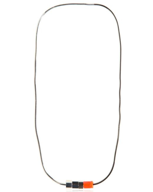 Lanvin   Blue Screw Necklace   Lyst