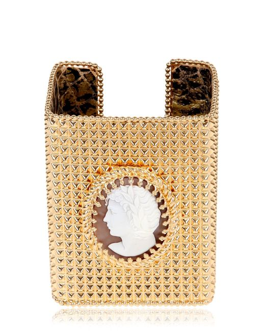 Bisou Bijoux | Metallic Big Square Cuff Bracelet | Lyst