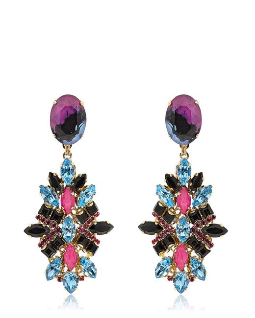 Erickson Beamon | Purple Girls On Film Earrings | Lyst